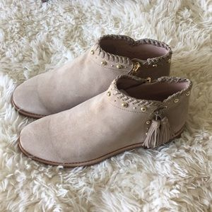 Kate Spade Bowie suede boots.